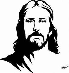 jesus christ face silhouette stencil drawings silueta stencils simple god juntos colhemos yahoo amor clipart painting dessin christus arte pintura