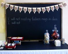 simple + lovely...gotta find me some chalkboard Contact paper!