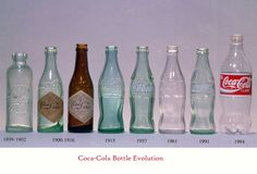Coca-Cola bottles by the year