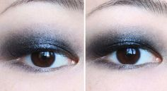 Faux-glossy smokey eye