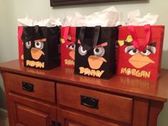 Angry birds party - goodie bags