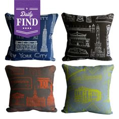 Not like I don't already have enough pillows...Cityscape Pillow - Daily Find made by Cityscape Designs .