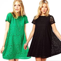 2016 Summer New Hot women floral Short Sleeve Lace Dress Lady Casual Loose O-neck Vintage Embroidery Hollow Out Dress  #beauty #streetstyle #stylish #instastyle #model #glam #swag #sweet #fashionista #cute