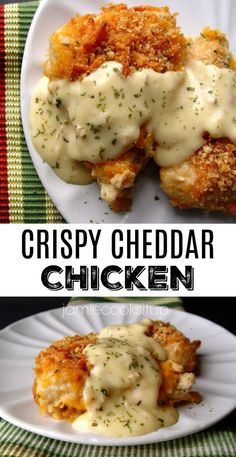 #Cheddar #Chicken #Crispy Crispy Cheddar Chicken        Crispy Cheddar Chicken from Jamie Cooks It Up! This is one of the most popular recipes on my site and for good reason! Super easy, super delicious! #crispychick