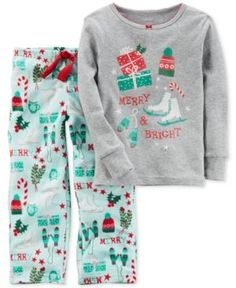 7636243a8 Carter's 2-Pc. Merry & Bright Pajama Set, Little Girls (4-6X) & Big Girls  (7-16) & Reviews - Pajamas - Kids - Macy's