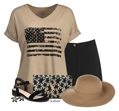 """""""Black & Tan"""" by sassafrasgal ❤ liked on Polyvore featuring Warehouse, Yves Saint Laurent, Dorothy Perkins, Lynn Chase and Armani Jeans"""