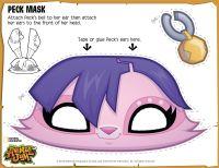 animal jam diy peck mask