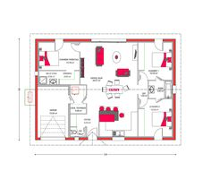 Plan De Maison Plain Pied Gratuit Chambres Architecture - Plan maison 4 chambres plain pied gratuit