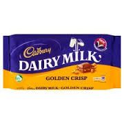 200g Cadbury's Golden Crisp.Cadbury's Dairymilk chocolate with crispy golden honeycomb granules. #www.ansiopa.ie