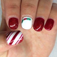 Christmas nail inspiration, via Leah Light.