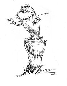 Could Be Printed For A Coloring Page Maybe Lorax Seuss Unit