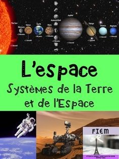 "French: ""L'espace"", Sciences, Grade 185 pages Science Curriculum, Science Resources, French Immersion, Reading Levels, Space Exploration, Learn French, Teacher Newsletter, Teacher Pay Teachers, Student Learning"
