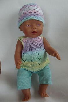 Oblečky pro panenku - zrození duhy Baby Doll Clothes, Doll Clothes Patterns, Clothing Patterns, Baby Dolls, Baby Born Kleidung, Bear Doll, Bitty Baby, Knitted Dolls, Cute Dolls