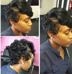Love this cute hair cut do Short Sassy Hair, Short Curls, Short Hair Cuts, Short Hair Styles, Dope Hairstyles, Cute Hairstyles For Short Hair, Curled Hairstyles, Natural Hair Cuts, Natural Hair Styles