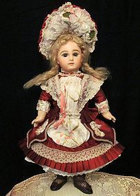 """French Bebe Dress Bonnet  fits 17 ½"""" -18 ½"""" Antique French Doll Sold"""
