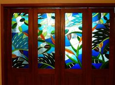 Stained Glass window door by NUZ # art # Artist at Betsy Frank Gallery