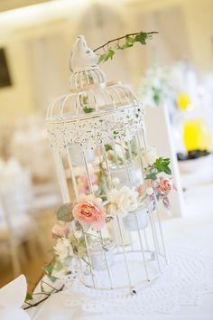 Birdcage Wedding Centerpiece  ~ Steven Hanna Photography