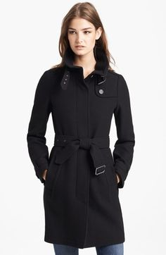 Burberry Brit 'Rushworth' Belted Wool Blend Coat. Available at Nordstrom