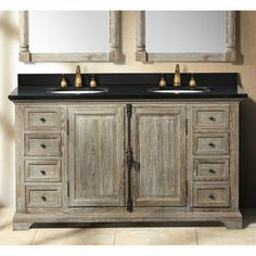 James Martin Providence 59 1/4 Inch Driftwood Double Vanity Cabinet Only