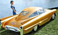 1954 Cutlass concept car 1 - GM Concept Cars Come Alive In Color by Imbued With Hues Us Cars, Sport Cars, Weird Cars, Cool Cars, Supercars, Cars Vintage, Vintage Concept Cars, Bmw Classic Cars, Pt Cruiser