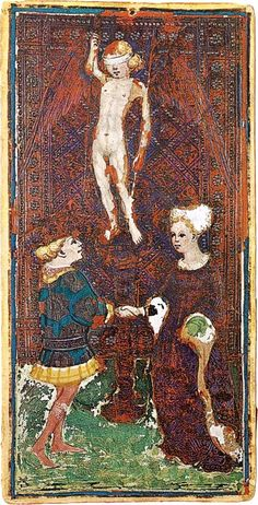 The Love card from the Visconti-Sforza Tarot deck, Circa 1450