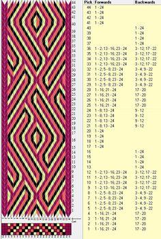 24 tarjetas, 4 colores, repite cada 24 movimientos // sed_838a diseñado en GTT༺❁