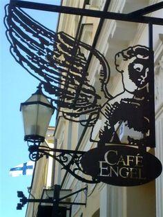 Café Engel by the Senate Square, Helsinki.