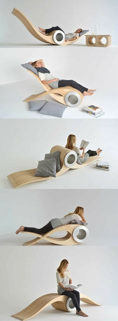 Deco hauses Transforming Chair Lets You Rest In Different Positions For Maximum Comfort Smart Furniture, Unique Furniture, Furniture Ideas, Barbie Furniture, Garden Furniture, Furniture Outlet, Modern Furniture Design, Modern Interior, Japanese Furniture