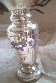 Bauernsilber-Vase
