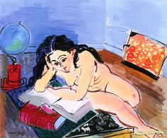 Nude with a World Map Artwork by Raoul Dufy Hand-painted and Art Prints on canvas for sale,you can custom the size and frame