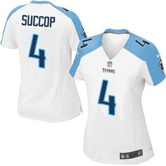 $24.99 Nike Elite Ryan Succop White Women's Jersey - Tennessee Titans #4 NFL Road