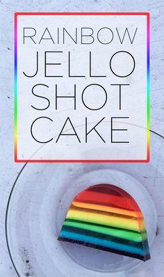 Layered Rainbow Jello Shot