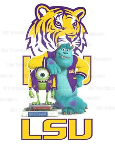 Monsters University Inspired LSU Tigers  New by TinyTeammates