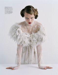 """Couture's Outre Attitude""   Model: Cara Delevingne, Photographer: Tim Walker, W Magazine, April 2013"