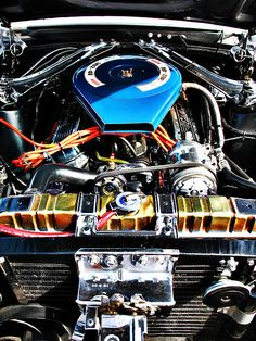 American Muscle Car Engine. Original photograph by Felix Padrosa #muscle #car #engine