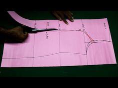 Princess cut kurti cutting and stitching DIY tutorial explained 2017 part1, Princess cut kameez - YouTube