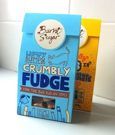 cute packaging for fudge by gemma correll