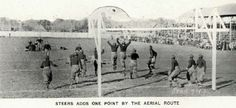 1920 UO football Bill Steers kicks an extra point.  From the 1921 Oregana (UO yearbook).  www.CampusAttic.com