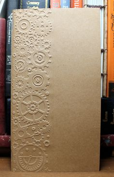 Gear Embossed Cover Cahier size Inserts 8.25 x 5 by AORJournals