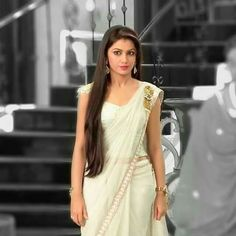 This is a love story involving a ghost.So expect love instead of horr… Beautiful Girl Indian, Beautiful Saree, Beautiful Indian Actress, Kajal Agarwal Saree, Bollywood Hairstyles, Sriti Jha, Front Hair Styles, Indian Tv Actress, Indian Beauty Saree