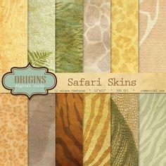 Safari Skins Digital Paper by Origins Digital Curio on Creative Market