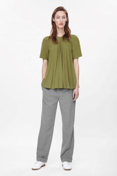 COS | Raw-edge pleated top