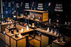 Patta shoe store, Amsterdam with Wood & Steel Displays #retail #display #design