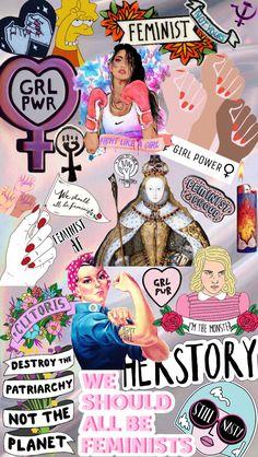 feminist wallpaper | picsart collage