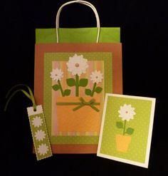 Flower Pot Gift Bag Set by PatMatCards on Etsy, $6.00