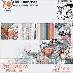 Lolly Bag - PU {by Lara's Digi World} 12th Birthday, Birthday Celebration, Happy Birthday, Lolly Bags, Digital Scrapbooking, Tapestry, World, Happy Brithday, Hanging Tapestry