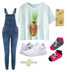 """""""Untitled #38"""" by faultbackgame2strong on Polyvore featuring NIKE, Casetify and Rock 'N Rose"""
