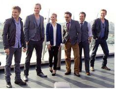 Notice how short Chris Hemsworth makes everyone else look