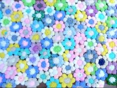How To Crochet Puff Stitch Flowers #15 - http://www.knittingstory.eu/how-to-crochet-puff-stitch-flowers-15/