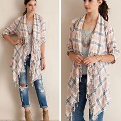 Spotted while shopping on Poshmark: •plaid fringed cardigan•! #poshmark #fashion #shopping #style #Tops